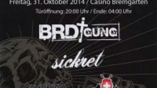 Deafening Festival am 31. Oktober 2014 im Casino Bremgar...
